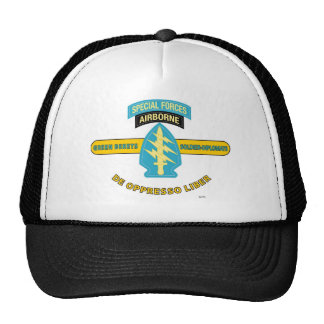 "SPECIAL FORCES AIRBORNE ""DE OPPRESSO LIBER"" TRUCKER HAT"