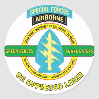 SPECIAL FORCES AIRBORNE PRODUCTS CLASSIC ROUND STICKER