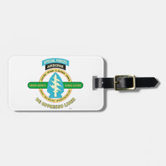 SPECIAL FORCES AIRBORNE PRODUCTS LUGGAGE TAG