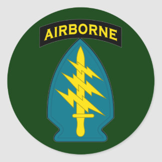 Special Forces - Airborne - shoulder patch Round Sticker