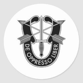 Special Forces Classic Round Sticker