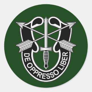 Special Forces DUI - de oppresso liber Round Sticker