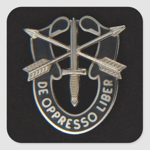 Special Forces DUI Square Sticker