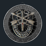 """Special Forces GB Dart Board<br><div class=""""desc"""">Special Forces unit insignia with Green Berets above</div>"""