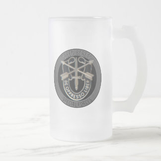 Special Forces GB Frosted Glass Beer Mug