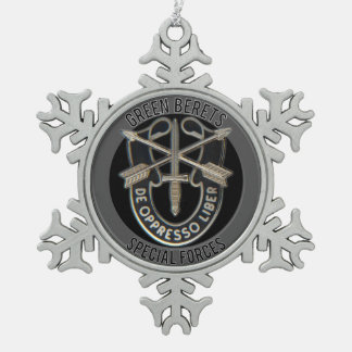 Special Forces GB Snowflake Pewter Christmas Ornament