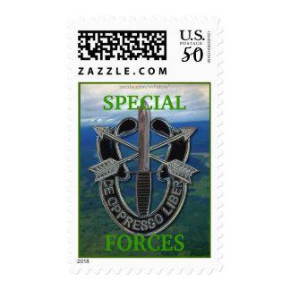 special forces green berets crest postage stamp...