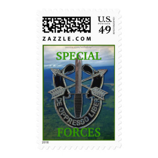 special forces green berets crest postage stamp...