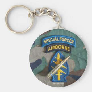 special forces green berets group iraq Keychain