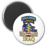 special forces green berets iraq war veterans Magn 2 Inch Round Magnet