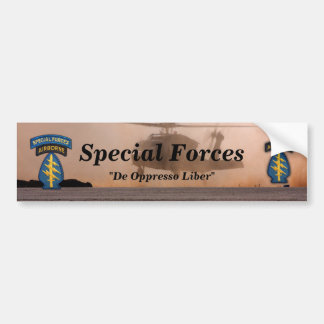 special forces green berets patch Bumper Sticker