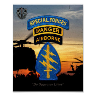 Special Forces Green Berets Rangers SF SFG Poster