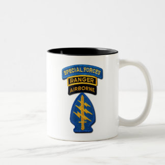 Special Forces Green Berets Rangers Vets Two-Tone Coffee Mug