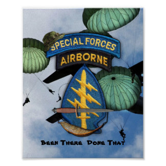 special forces green berets sf lrrp lrrps recon poster
