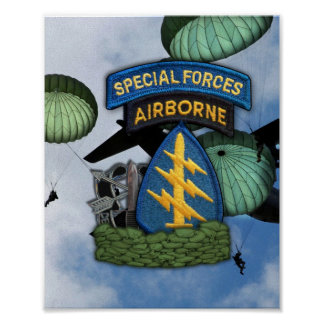 special forces green berets sf sfg poster