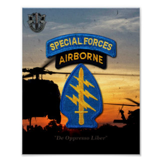Special Forces Green Berets SF SFG Veterans Vets Poster