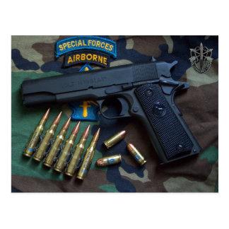 special forces green berets Sf SOF LRRPS Postcard