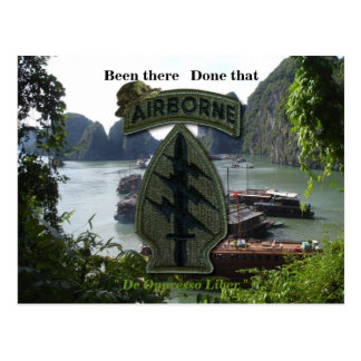 special forces green berets sf sof vietnam nam war postcard