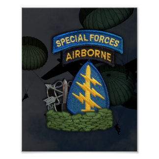 special forces green berets sfg flash print