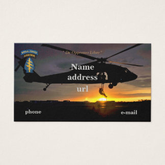 Special Forces Green Berets SFG SF SOF vets patch Business Card