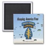 special forces  green berets veterans Magnet Refrigerator Magnets