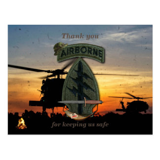 Special forces green berets veterans vets patch postcard