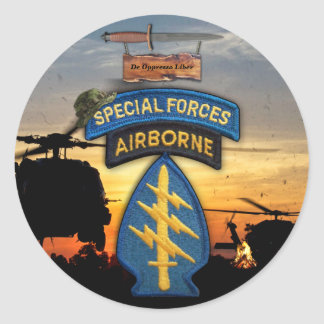 Special forces Green Berets veterans vets sf sof Classic Round Sticker