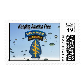 special forces group green berets postal stamp