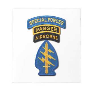 Special Forces Group Green Berets SF SOF SFG SOC Notepad