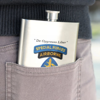 Special Forces Group Green Berets SFG SF LRRP Vets Flask