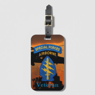 Special Forces Group Green Berets SFG SF LRRP Vets Luggage Tag