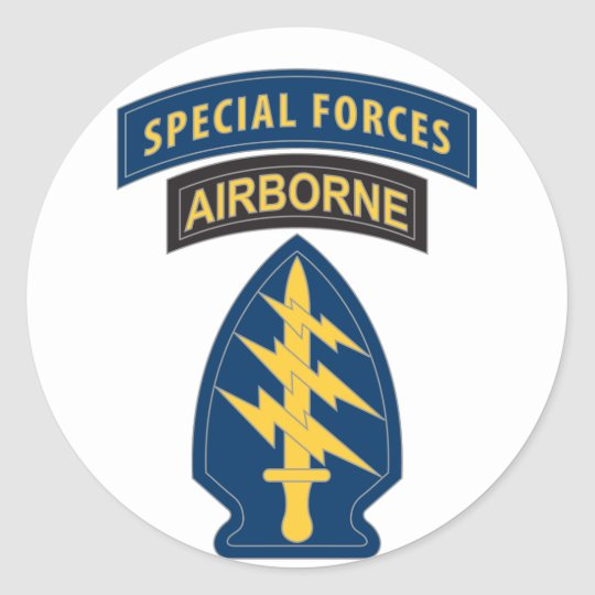 Special Forces Patch Classic Round Sticker