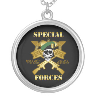 Special Forces Round Pendant Necklace