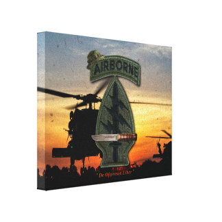 Special Forces sf sof sfg Green Berets veterans Canvas Print