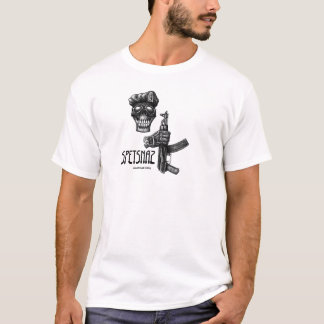 Special forces skull and AK 47 gun ink drawing T-Shirt