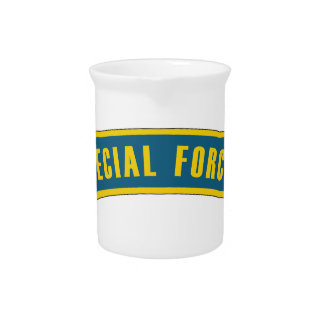 Special Forces Tab Blue & Gold Beverage Pitcher