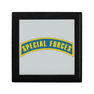 Special Forces Tab Blue & Gold Jewelry Box