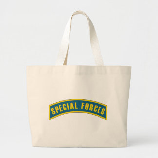 Special Forces Tab Blue & Gold Large Tote Bag