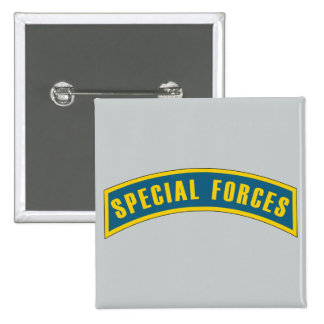 Special Forces Tab Blue & Gold Pinback Button