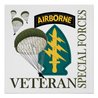 Special Forces Veteran - Airborne Print