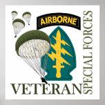 Special Forces Veteran - Airborne Print