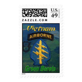 special forces vietnam green berets postage sta...