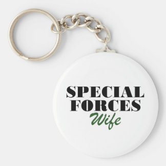 Special Forces Wife Basic Round Button Keychain