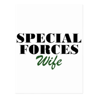 Special Forces Wife Postcard