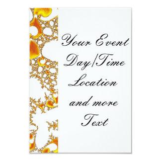 special fractal 04 orange invitations