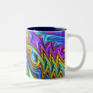 Special Fractal,colorful Two-Tone Coffee Mug