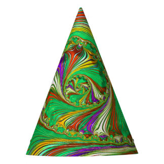 Special Fractal green Party Hat