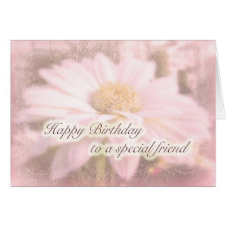Special Friend Birthday - Gerbera Daisy Card