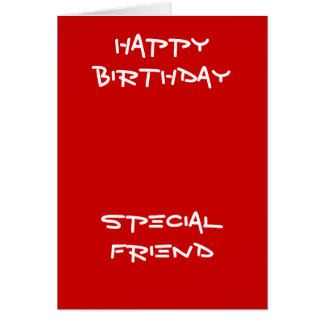 Special friend birthday greeting cards