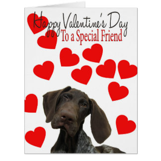 Special Friend Glossy Grizzly Valentine Puppy Love Card